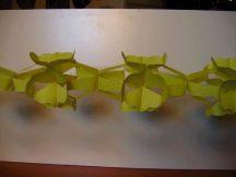 hálós girland 4 m-es sárga