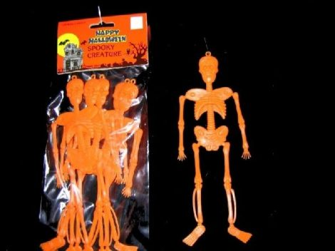 műanyag csontváz 20 cm (6 db) narancs