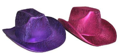 cowboy kalap fényes rózsaszín (50248)