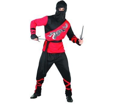 ninja jelmez (SDNSM) piros-fekete- 52-54 méret