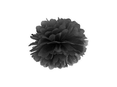 papír gömb / pom-pom (37 cm átmérő ) fekete
