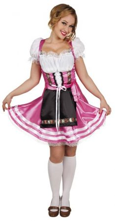 Tiroli, bajor női jelmez rózsaszín M méret (87447-B)