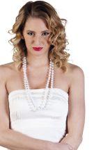 charleston nyaklánc fehér (64303-B)