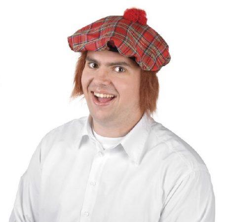 Skót sapka vörös hajjal (81223-B)