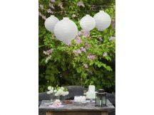 Lampion gömb világító, fehér (20 cm)