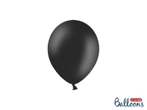 pasztel lufi 27 cm -010 fekete 50db