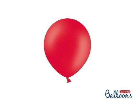 pasztel lufi 30 cm -007 piros 25db