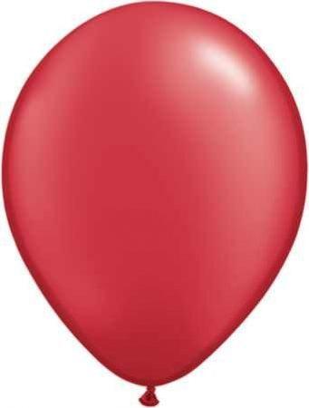 metál lufi 27 cm - 007j piros 50db
