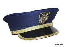 Rendőr tányérsapka (51133)