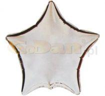 Csillag fólia lufi ezüst (45 cm)