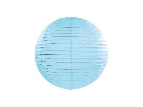 papír lampion gömb világoskék (20 cm)