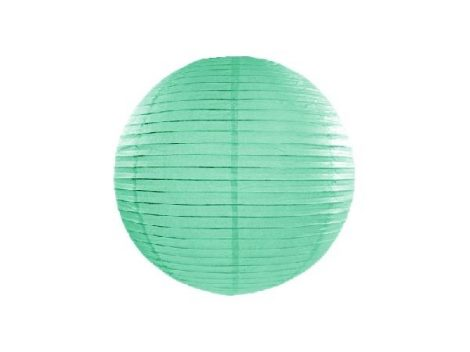 papír lampion 25 cm, mentazöld (103)