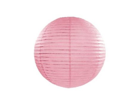 papír lampion 25 cm, rózsaszín (081)