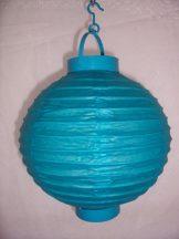 Lampion gömb világító türkiz (20 cm)