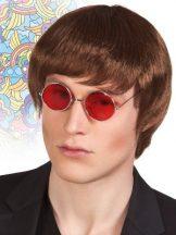 Rövid, barna (John Lennon) paróka (85811-B)