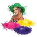 színes hawaii szalmakalap (4 színben)- 95465-B