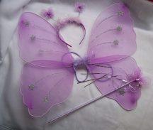 pillangó szett 3 részes (48*40 cm) lila