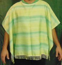 Mexikói poncsó (poncho) felnőtt méret, zöld