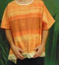 Mexikói poncsó (poncho) felnőtt méret, sárga
