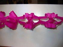 hálós girland 4 m-es pink