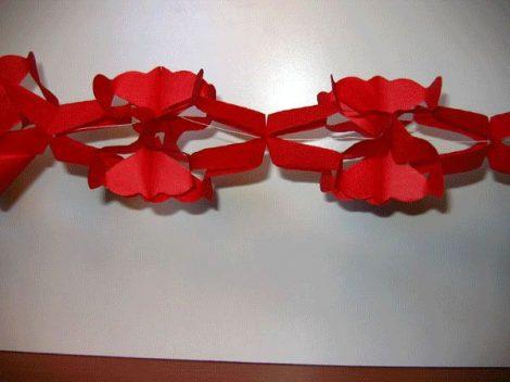 hálós girland 4 m-es piros
