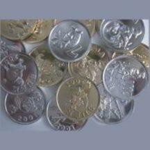 szerencsepénz arany vagy ezüst (10 db)
