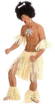 Zulu szett (szoknya, kar- és lábdísz)