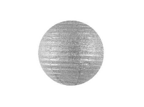 lampion glitteres ezüst (35 cm)