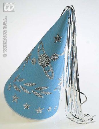 glitteres várúrhölgy kalap kék
