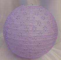 csipkés papír lampion lila, 30 cm