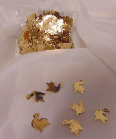 konfetti galamb arany (50 gr)