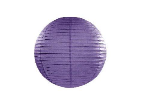 papír lampion gömb lila (20 cm) - 014