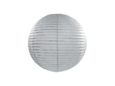 papír lampion gömb ezüst (20 cm) -091