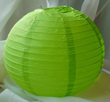 papír lampion gömb élékzöld (20 cm) -102J