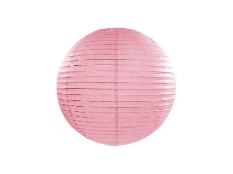 papír lampion gömb rózsaszín (20 cm) -081