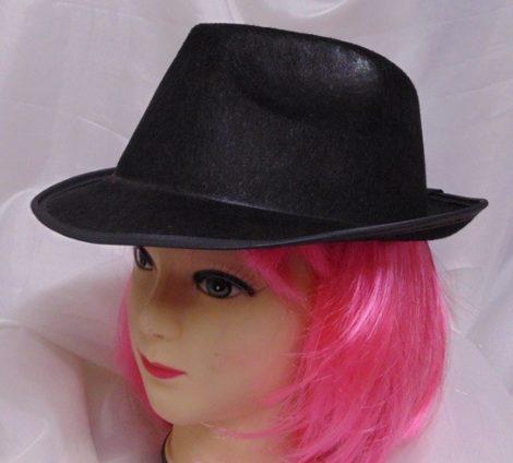 Fekete, textil gengszter kalap