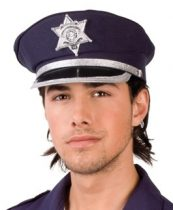 rendőr tányérsapka (állítható méret)-B-97049