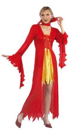Piros halloween jelmez (M méret)-B-87010