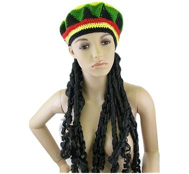 Jamaikai  raszta paróka sapkával - jelmez afc391a1be