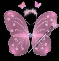 pillangó szett 3 részes (48x40 cm) pink
