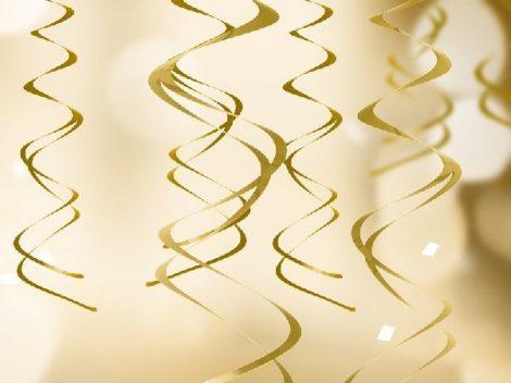 arany függődísz, 5 részes (kb. 60 cm)