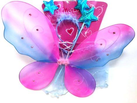 pillangó szett szivárványos szárnnyal ( szárny színe a fotótól eltérő lehet)