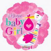 baba születéses fólia lufi, kislány (19730)