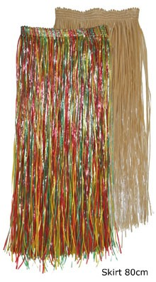hosszú hawaii szoknya natúr színben (52401-B)