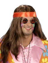 Hippie paróka barna, fejpánttal (E-57264)