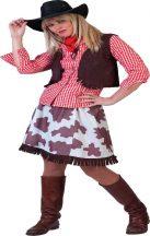 Cowgirl női jelmez, 34-s méret (E-513004)