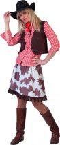 Cowgirl női farsangi jelmez, 38-40-s méret (E-513004)