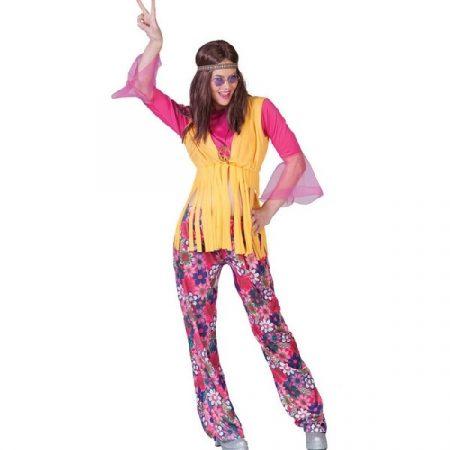 hippie női farsangi jelmez (38-40 méret)-(E-513006)
