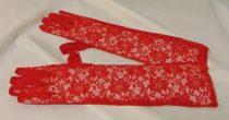 csipke kesztyű, piros, 43 cm