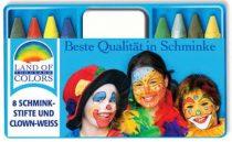 arcfesték (8 színes kréta + 1 nagy fehér arcfesték)